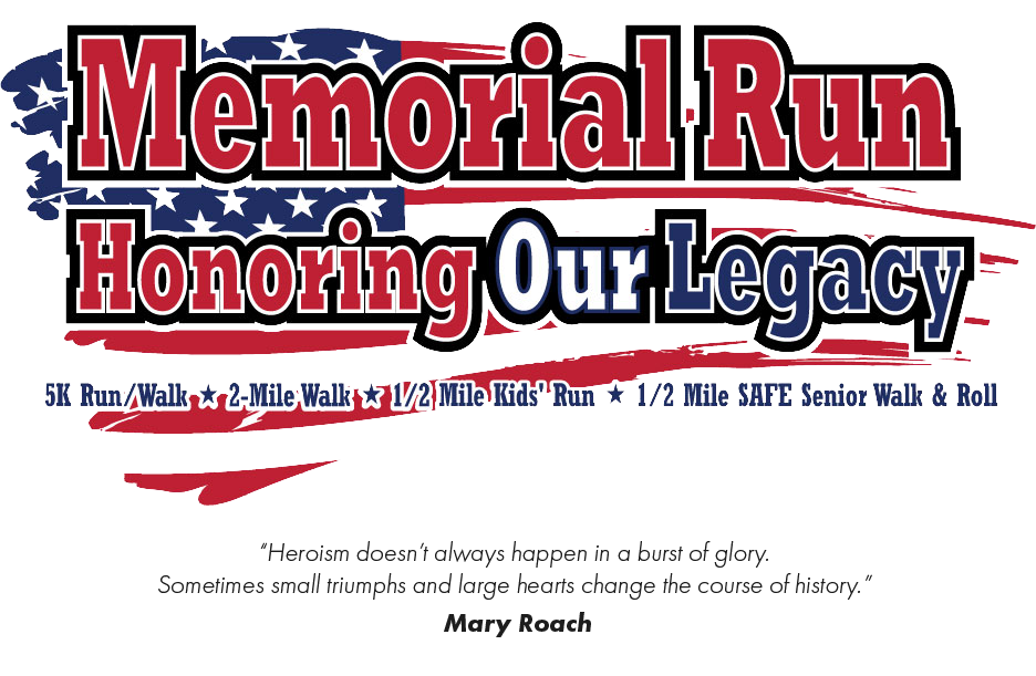 An image of the Clovis Memorial Run logo