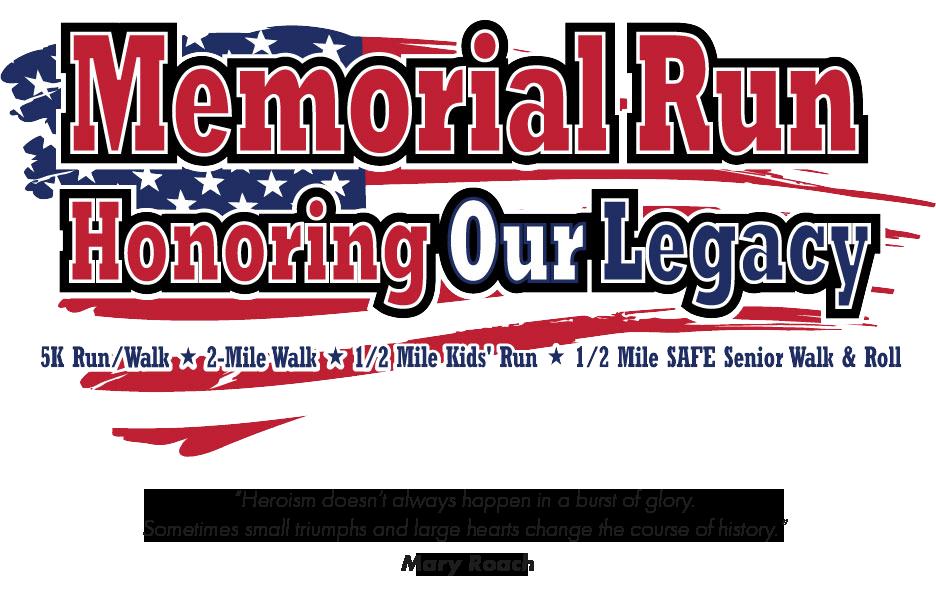 An image of the Clovis Memorial Run logo